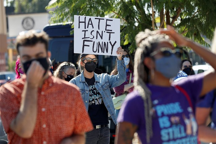 Netflix staff join protests outside its headquarters over controversial stand-up show by Dave Chappelle