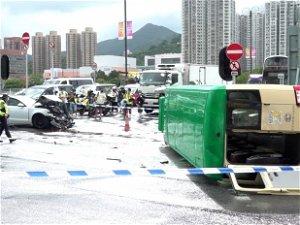One dead, seven injured in Hong Kong minibus crash
