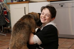 Boy reunited with dog in Hampshire after doorbell camera appeal