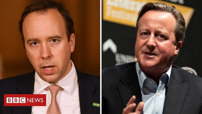 Cameron took Greensill for 'private drink' with Hancock to discuss NHS payment scheme - report