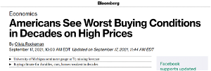 YIKES! Bloomberg News Admits Americans Seeing 'Worst Buying Conditions in Decades'