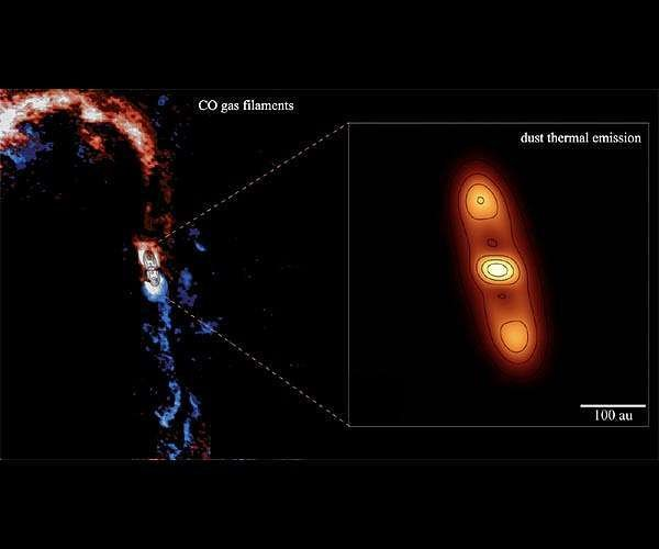 A planet-forming disk still fed by the mother cloud