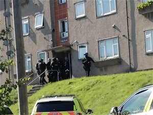 Armed police among emergency services at scene of incident in Caerphilly