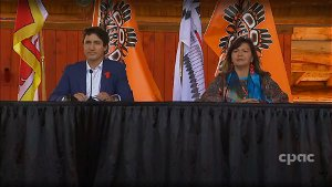 Trudeau visits First Nation, apologizes for skipping invitation on National Day for Truth and Reconciliation