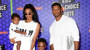 Russell Wilson jokes that it's time for Ciara to stop breastfeeding