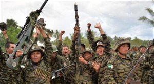 Philippine troops drive away armed rebels from public market