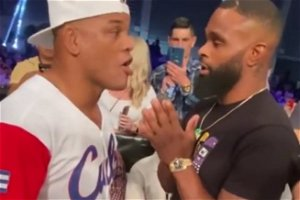 Video: Hector Lombard confronts 'clown' Tyron Woodley at BKFC 19, makes accusations