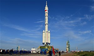 Long March 2F rocket ready for launch of three astronauts to China's space station