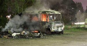 Several arson attacks in Eskilstuna, Sweden - also attacked by police