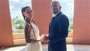 Photos   BKFC fighters Joey Beltran and Britain Hart announce marriage