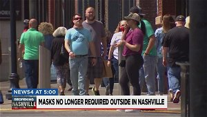 Health officials: Masks not required outdoors in Nashville