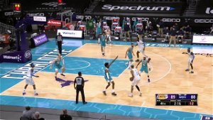 Dennis Schroder with a 3-pointer vs the Charlotte Hornets