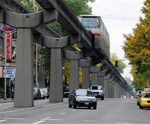 Four elevated railway tracks within Colombo-city limits