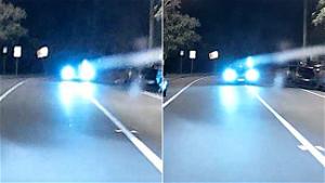 'Having fun?': Mercedes driver's alleged 'dangerous' act in front of Queensland cops