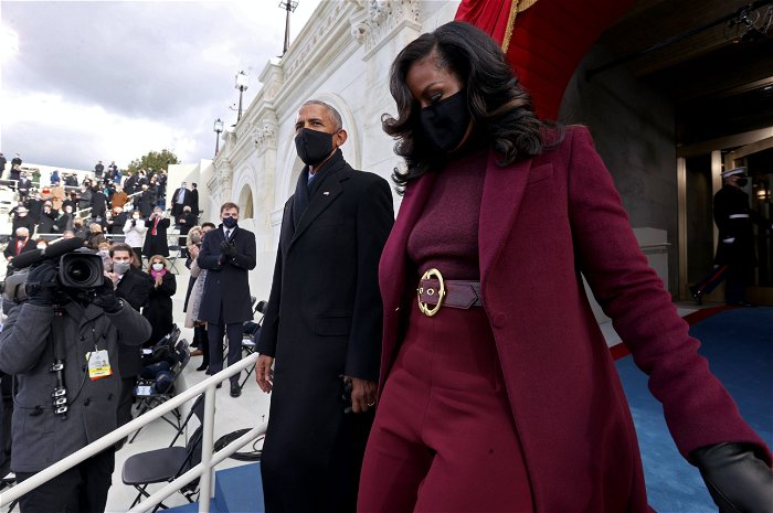 Michelle Obama's outfit wows inauguration viewers. See the Sergio Hudson suit, reactions